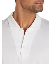 Chester Barrie | White Plain Slim Fit Polo Shirt for Men | Lyst