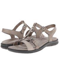 Ecco - Gray Babette Sandal T-strap - Lyst