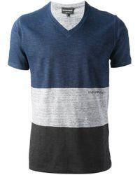Emporio Armani - Blue V-neck T-shirt for Men - Lyst