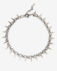 Fallon - Metallic Spiked Pearl Choker - Lyst