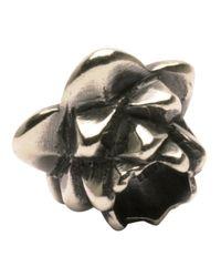 Trollbeads | Metallic 'lotus' Silver Bead | Lyst