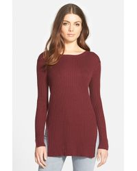 Trouvé - Purple Rib Knit Tunic - Lyst
