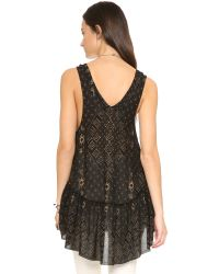 Free People | Black Say It With A Layer Tunic | Lyst