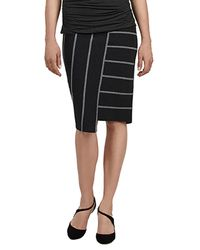 Bailey 44 | Gray Skyline Stripe Skirt In Anthracite | Lyst