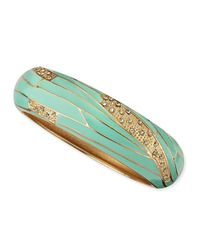Sequin | Green Wide Insect-Wing Bangle | Lyst