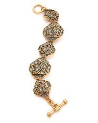 Oscar de la Renta | Multicolor Rose Pave Bracelet - Black Diamond | Lyst