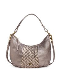 Elliott Lucca | Multicolor Intreccio Leather Demi Hobo Bag | Lyst