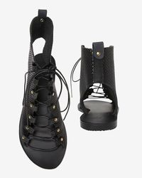 Ancient Greek Sandals | Black Perforated Gladiator Sandals | Lyst