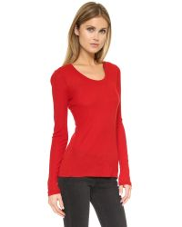 Rag & Bone - Red Elise Long Sleeve Tee - Lyst