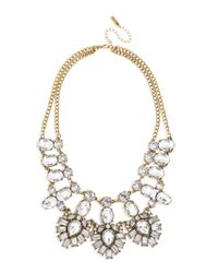 BaubleBar - Metallic Crystal Feather Bib - Lyst