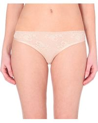 Stella McCartney | Pink Lace Thong | Lyst