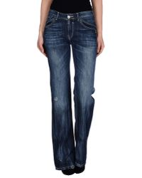 GAUDI | Blue Denim Pants | Lyst
