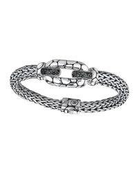 John Hardy | Metallic Silver Black Sapphire Lava Station Bracelet | Lyst