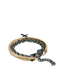 ASOS - Black Bracelet Pack with Metal Chain for Men - Lyst