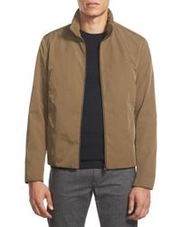 Theory - Brown 'juden' Zip Front Canvas Jacket for Men - Lyst