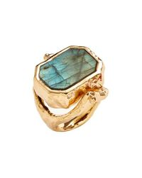 Alexis Bittar | Green 'quoi' Labradorite Cocktail Ring | Lyst