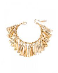 BaubleBar | Metallic Gold Tassel Bracelet | Lyst