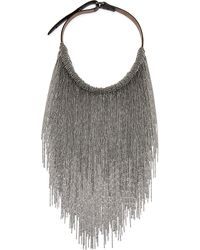 Brunello Cucinelli | Metallic 'Monili' Fringed Necklace | Lyst