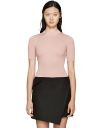 Carven | Pink Wool Sweater | Lyst