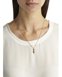 MFP MariaFrancescaPepe | Metallic Rock On 23Kt Gold Plated Necklace | Lyst