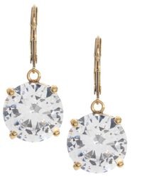 Betsey Johnson | Metallic Circle Crystal Drop Earrings | Lyst