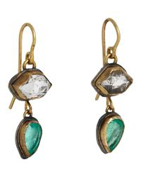 Judy Geib | Metallic Colombian Emerald & Herkimer Diamond Double | Lyst
