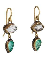 Judy Geib - Metallic Colombian Emerald & Herkimer Diamond Double - Lyst