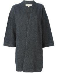 MICHAEL Michael Kors - Gray Bell Sleeves Cardigan - Lyst