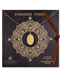 Dogeared | Metallic Lady Of Guadalupe Necklace 18 | Lyst