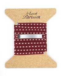 Ursul | Purple Le Lacet Parisien Burgundy Cotton Lace-up Bracelet for Men | Lyst