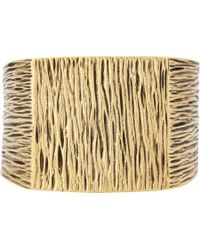 Saint Laurent - Metallic Grunge Cuff Bracelet for Men - Lyst