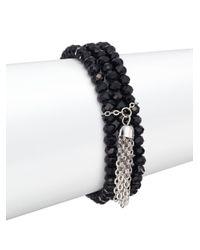 Punch - Three-strand Beaded Bracelet/black - Lyst