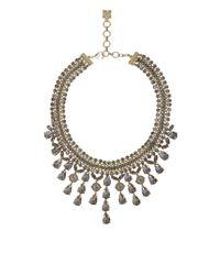 BCBGMAXAZRIA - Black Corded Gemstone Necklace - Lyst