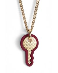 Marc Jacobs - Purple Key Pendant Necklace - Lyst