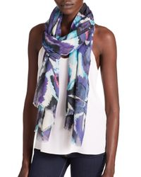 Bindya | Blue Sierra Printed Cashmere & Silk Scarf | Lyst