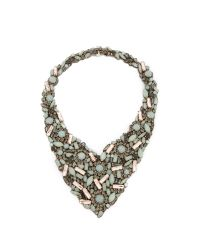 Jenny Packham | Green Crysolite Necklace - Pale Jade | Lyst