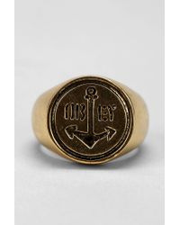 Obey - Metallic Anchor Ring for Men - Lyst