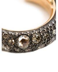 Pomellato | Brown Diamond Pavé Hoop Earrings | Lyst