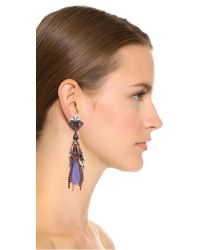 Erickson Beamon - Crystal Tassel Earrings - Blue Multi - Lyst