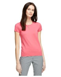 Brooks Brothers | Pink Silk Blend Shell | Lyst