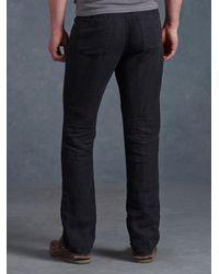 John Varvatos   Black Linen Authentic Jean for Men   Lyst