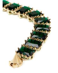 Eddie Borgo | Green Large Rectangle Estate Cubic Zirconia Bracelet | Lyst