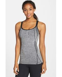 Zella | Black 'power Through' Seamless Tank | Lyst