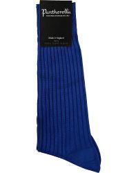 Pantherella - Blue Danvers Ribbed Cotton Socks for Men - Lyst