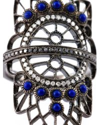 Joelle Jewellery | Blue Oversized Geometric Diamond Ring | Lyst