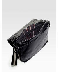 Bally - Black Leather Messenger Bag for Men - Lyst