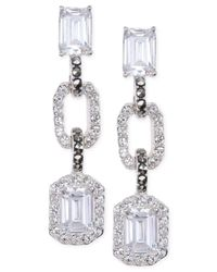 Judith Jack - Metallic Crystal (3/5 Ct. T.w.) And Marcasite (3/20 Ct. T.w.) Triple Drop Earrings - Lyst
