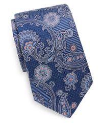 Saks Fifth Avenue - Blue Silk Paisley Tie for Men - Lyst