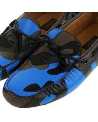 Valentino | Blue Rockstud Flat | Lyst