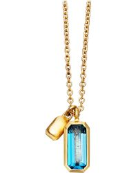 Astley Clarke | 18ct Gold Vermeil Blue Topaz Necklace | Lyst